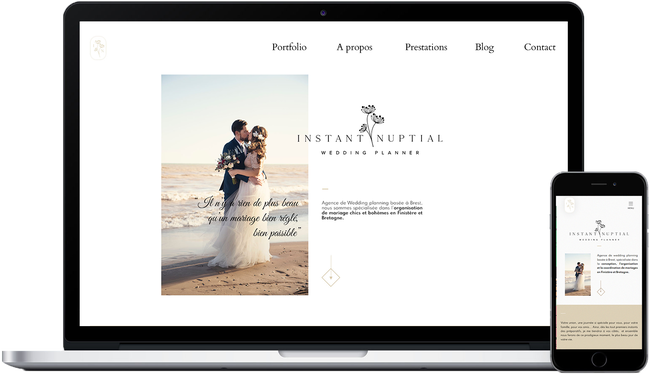 Responsive website made for Instant Nuptial