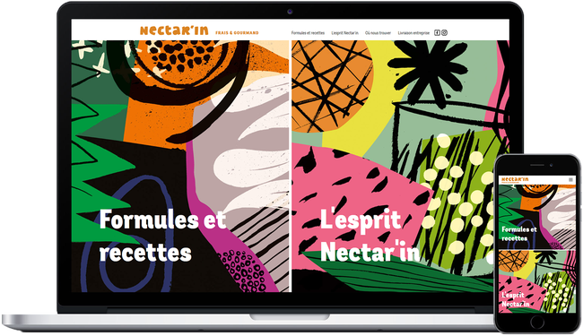 Nectar'In website: fresh & delicious